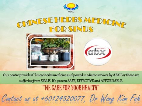 Herbs remedies therapy for sinus